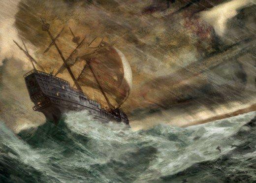 Ship on High Seas