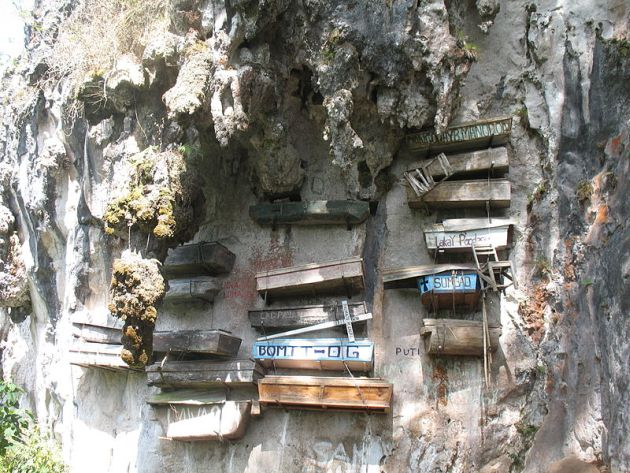The Hanging Coffins of the Igorot