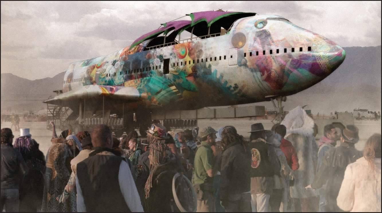 747 Project_render_Burning Man